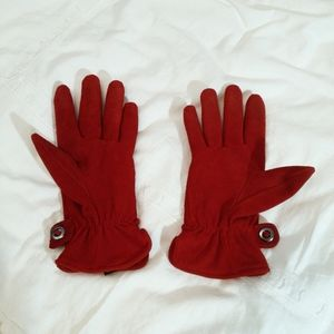 Gorgeous royal red suede gloves